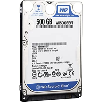 WESTERN DIGITAL 2.5インチ内蔵HDD Serial-ATA 5400rpm 500GB 8MB WD5000BEVT
