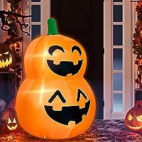 TURNMEON 4 Foot Halloween Inflatables Stacked Pumpkin Deals