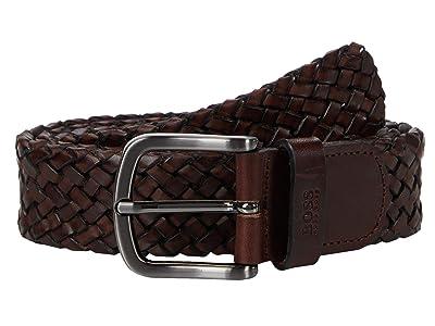 BOSS Hugo Boss Sash Woven Leather Belt by BOSS (Brown) Men