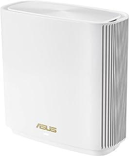 راوتر اسوس زين واي فاي ايه اكس ثلاثي النطاق بشبكة واي فاي 6 (XT8 أبيض)، 6.6 جيجابايت،واي فاي، 3 SSIDs، ضمان الشبكة مدى الح...