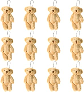 12Pcs Stuffed Plush Mini Teddy Bears, 6cm Joint Stuffed Small Teddy Bears Tiny Bear Stuffed Animal Bulk for Baby Shower Ca...