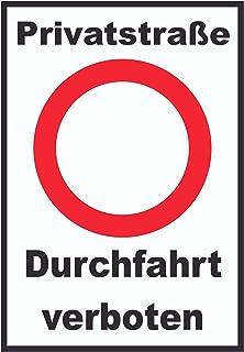 HB-Druck Privatstraße Durchfahrt verboten Schild A3 (297x42