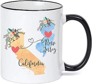 California to New Jersey Mug New Jersey California Mug Coffee Cup Gift