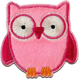 búho animal - Parches termoadhesivos bordados aplique para ropa, tamaño: 4,7 x 4,7 cm