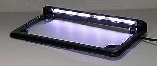 Complete Motorcycle License Plate Frame White LED 6 (Black)