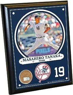 Steiner Sports MLB New York Yankees Masahiro Tanaka Plaque with Game Used Dirt from Yankee Stadium, 8