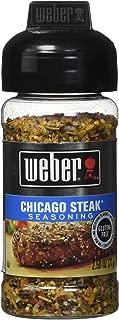 WEBER Grill CHICAGO STEAK Seasoning 2.5 oz. (Pack of 2)