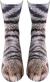 NDLBS Animal Paw socks Unisex Adult Novelty 3D Print Casual Socks funny gift for men women