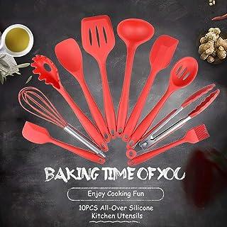 مجموعة أدوات المطبخ من جوولسكاي المكونة من 10 قطع من أدوات الطبخ المصنوعة من جل السيليكا