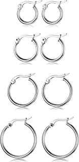 different hoop earring sizes