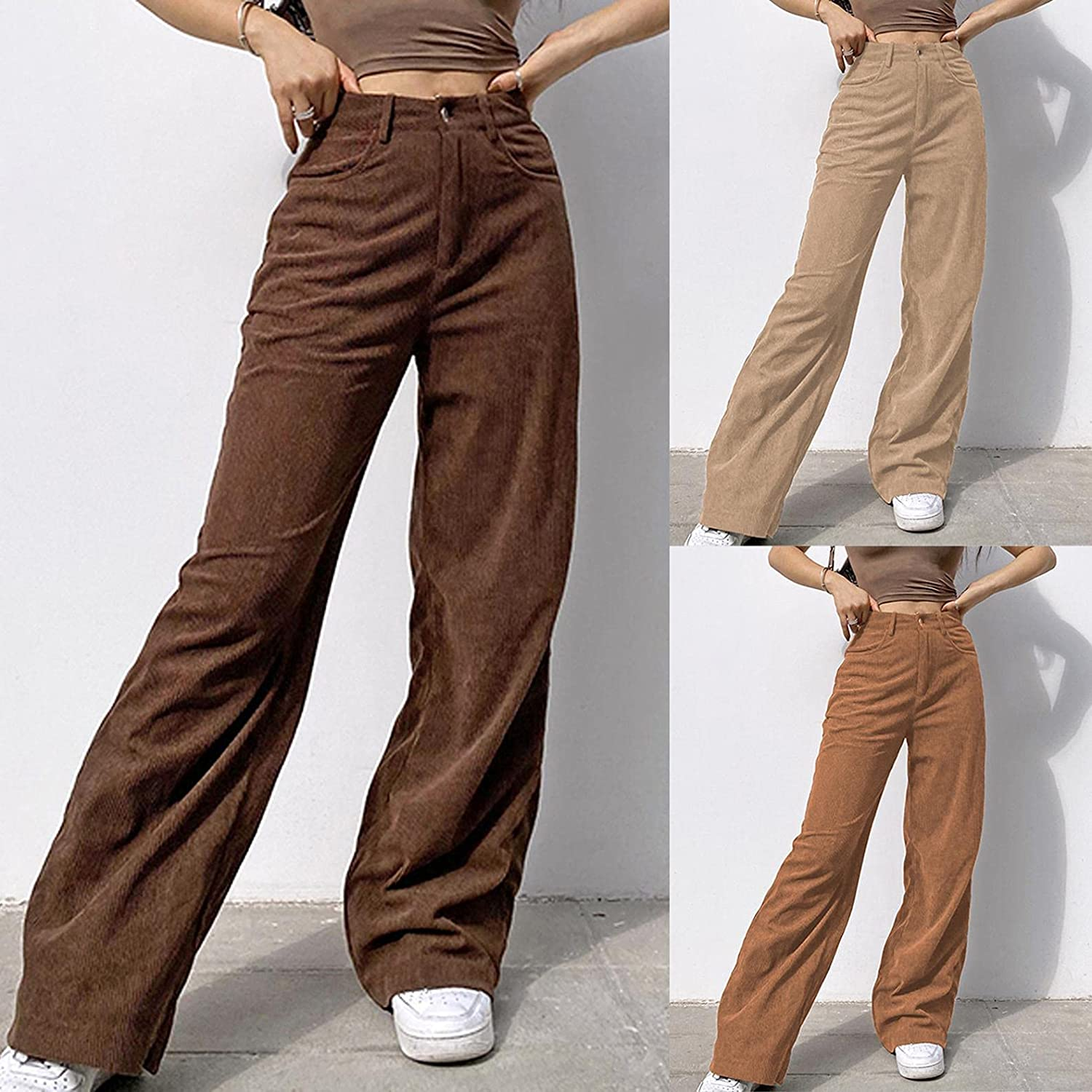 Lingbing Y2K Fashion Jeans, Women 90s Wide Leg Pant Straight Jeans Casual Baggy Trousers Patchwork Denim Pant Streetwear