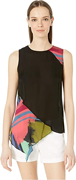 Abstract Paint Asymmetrical Top