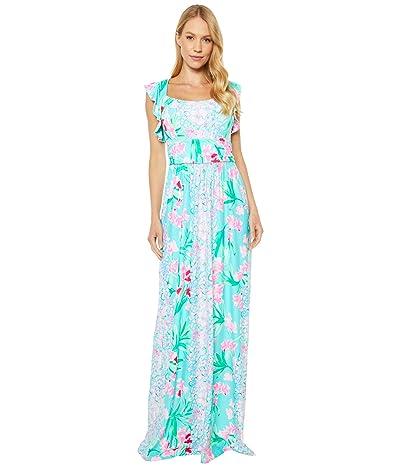 Lilly Pulitzer Cristal Maxi Dress (Aqua Al Fresco Isn