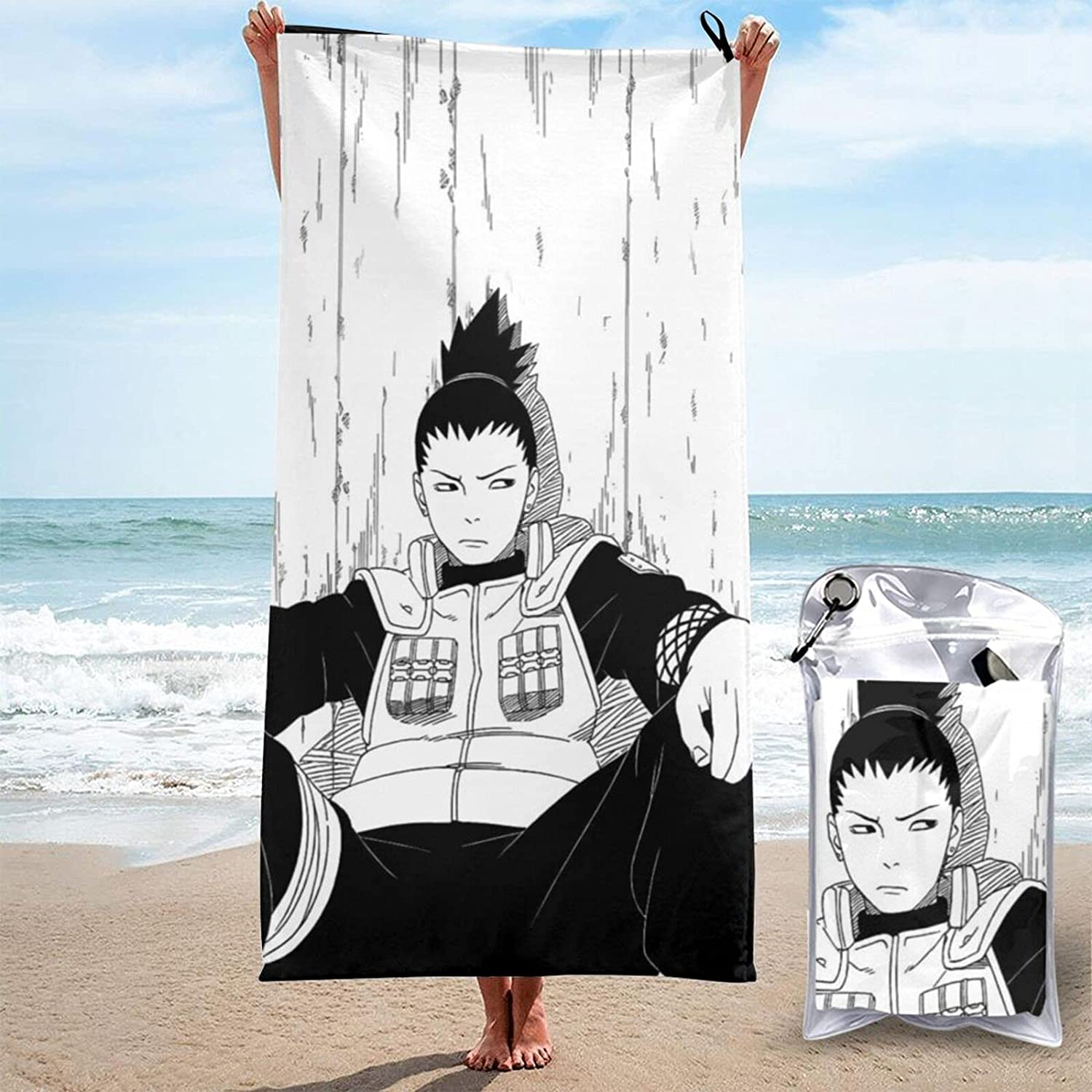 Shikamaru Animer and price revision 3D Printed Large sold out Beach are Quick-Dry Towels Sand-Free