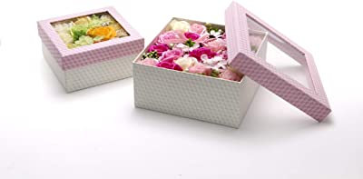 【BIO】フレグランスソープフラワー ハーモニーボックス お祝い 記念日 お見舞い 母の日 お祝い パーティーグッズ プレゼント (パープル)