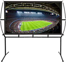 Portable Projector Screen with Stand, Indoor and Outdoor Movie Screen 16:9 with Wrinkle-Free Design (Easy to Clean, 1.1 Gain, 160° Viewing Angle and Includes a Carry Bag) (100