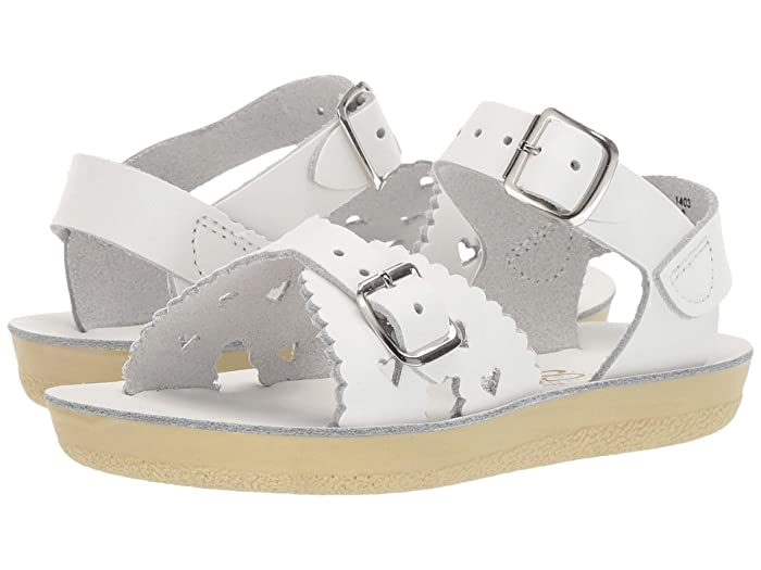 Salt Water Sandal by Hoy Shoes  Sun-San - Sweetheart (Toddler/Little Kid) (White) Girls Shoes