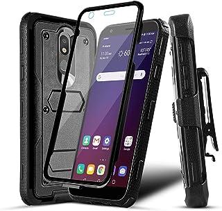 Numy Lg Aristo 4 Plus case,LG Escape Plus Case,Phone Case for Tribute Royal/Aristo 4/Arena 2/K30 2019/Aristo 4+ Plus/Journey LTE,Built-in Screen Protector,Heavy Duty w Belt Clip-Black