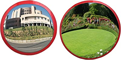 Ryme Feng Shui Convex/Pakwa Mirror/Safety Mirror for Removal of Outside Negative Energy Combo of (6 Inches & 12 Inches)
