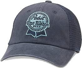 American Needle Raglan Bones Pabst Blue Ribbon Beer Trucker Hat (PBC-1910A-NAVY)