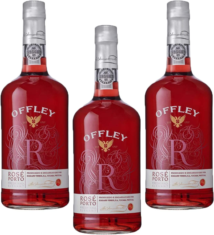 Vino de Oporto Offley Rosado - Vino Fortificado- 3 Botellas