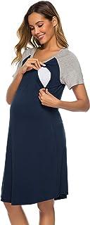 Twinklady Sleepwear Women Nightgown Cotton Sleepshirts Scoop Neck Nightdress Short Sleeve Scoope Nightshirts