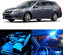 SCITOO 11Pcs Ice Blue Interior LED Light Package Kit Replacement Bulbs Fits for Subaru Legacy 1998-2010