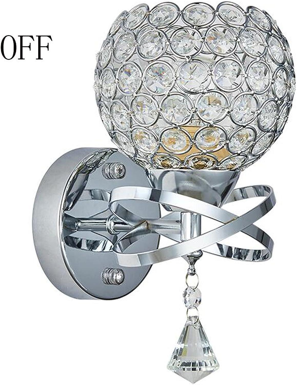LXSEHN LED-Kristall moderne minimalistische Art und Weise kreative Wandlampe warmes Schlafzimmer Nachtwandlampe Beleuchtung Lampen Laternen