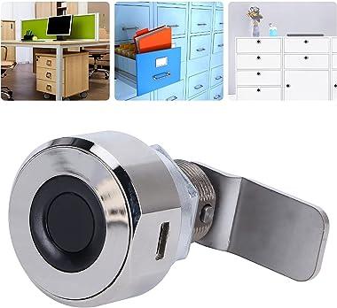 Bluetooth Fingerprint Drawer Lock APP Control Fingerprint Lock Zinc Ally Digital Cabinet Locks 20 Fingerprints USB Rechargeab