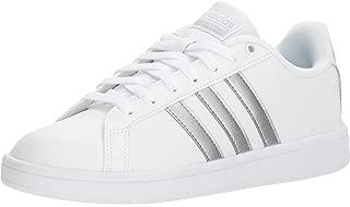 adidas Originals Women's CF Advantage Sneaker, FTWR White, Silver Met, Core Black, 11 M US