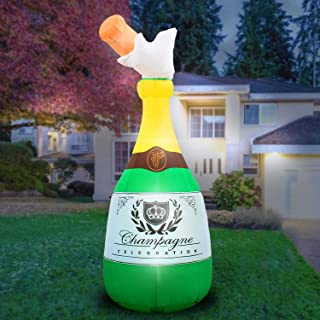 inflatable champagne bottle