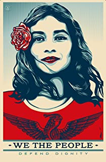 Rare Poster Graffiti Shepard FAIREY we The People Defend Dignity 2017 12x18 Burning Desire Poster