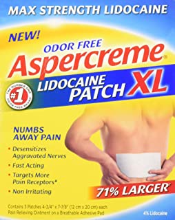 Aspercreme Lidocaine Patch XL Maximum Strength Odor Free, 3 Count