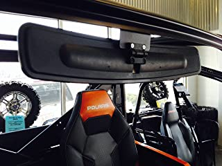 """16.5"""" Extra Wide Panoramic Rear View Mirror for 2013+ Polaris Ranger 900XP w/Lock n Ride cab (NOT FOR ROUND ROLL BAR UNITS.)"""