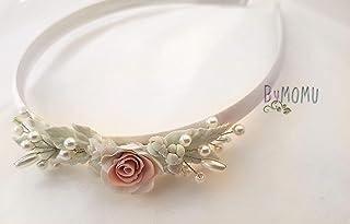 Fascia per ragazze Fatta a mano in porcellana fredda Fiori Rose -Prima comunione