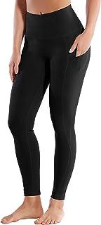 "BUBBLELIME 19""/22""/26"" Inseam High Compression Yoga Pants Running Pants High Waist Moisture Wicking UPF30+ (Long Pants&Cap..."