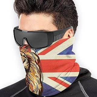 Bandana for Rave Face Mask Dust Wind UV Sun Protection Neck Gaiter Tube Mask Headwear Mask for Men Women - Animal Lion Union Jack