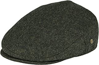 Men's Herringbone Flat Ivy Newsboy Hat Wool Blend Gatsby Cabbie Cap