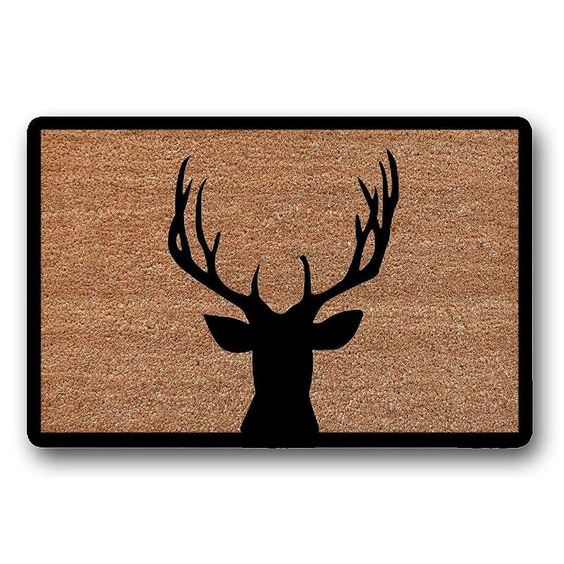 国便利さ便利さ鹿の玄関マット、ウェルカムマット、キャビンの装飾、屋外の敷物、玄関マット、かわいい玄関マット、クリスマスの玄関マット、玄関、冬の装飾、トナカイ、ポーチの装飾 75x45cm
