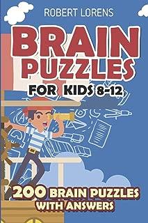 Brain Puzzles for Kids 8 - 12: Numbrix Puzzles - 200 Brain Puzzles with Answers (Math Puzzles for Kids)