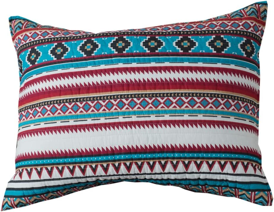 Rod's Montana Southwestern Horse Pillow Pa Sham Aztec mart Turquoise Inventory cleanup selling sale