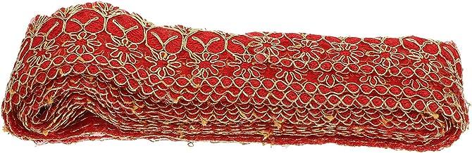 VICASKY Fita de renda bordada, acabamento em renda, renda de crochê, bordada, costura para roupas, decoração de cortinas, ...