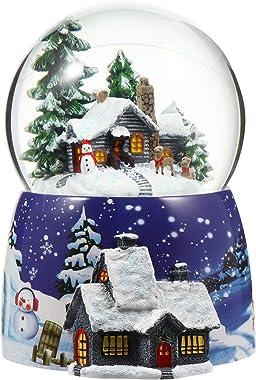 Garneck Boule de Neige Lumière de Noël Santa Cristal Table Boule Deau Artisanat Décoratif Noël Lumineux Et Nouvel an Cadeau p