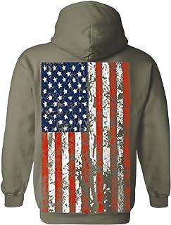 Sponsored Ad - American Flag Mens Hooded Sweatshirt United States USA Tattered Flag Hoodie
