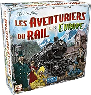 Les aventuriers du rail Europe - Asmodee - Jeux de plateau - Compatible avec Alexa