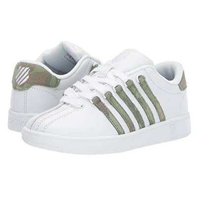 K-Swiss Classic VN (Big Kid) (White/Camo) Athletic Shoes