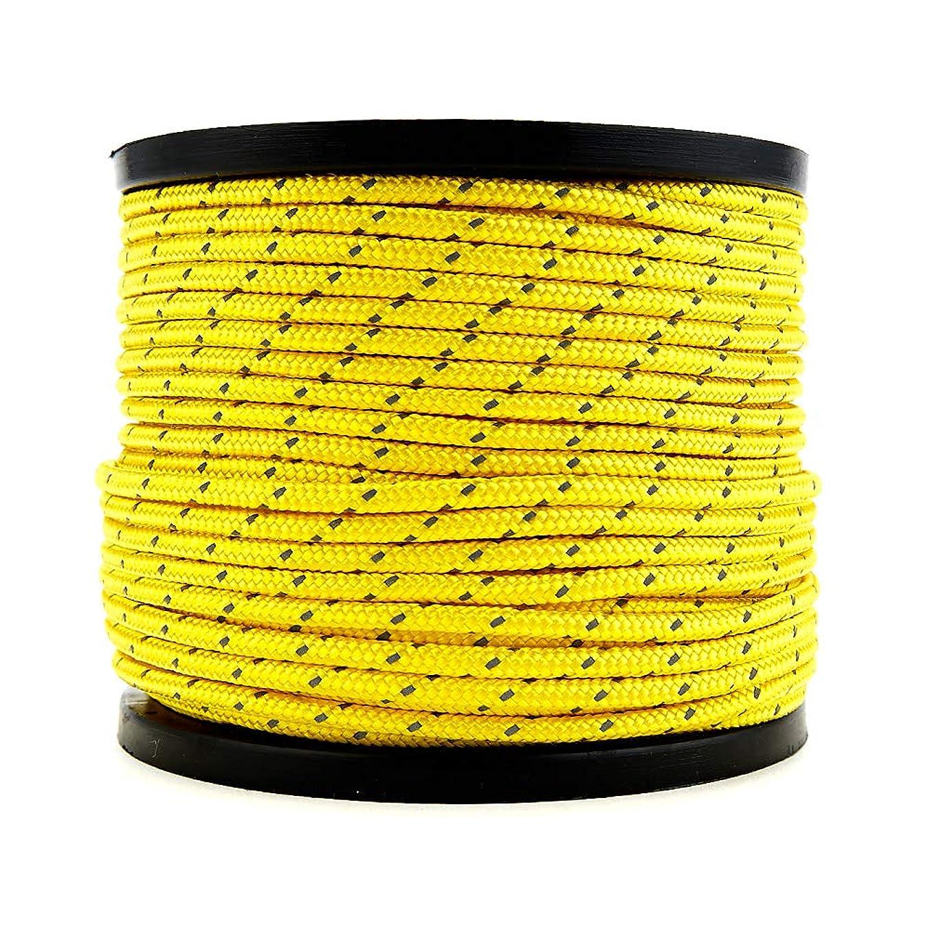 エキサイティングアカデミックファンSoomloom テント用ロープ 反射材付き 張り綱 全長50m ロープ直径4㎜