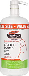 Palmer's Cocoa Butter Formula Massage Lotion for Stretch Marks and Pregnancy Skin Care, 33.8 Ounce