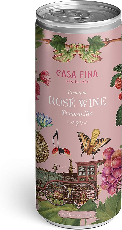 CASA FINA Vino ROSE TEMPRANILLO Lata 250ml