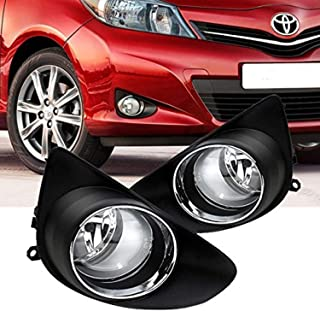 RP Remarkable Power, Fit For 2012-2014 Yaris Hatchback Fog Lights Kit Bumper Lamps w/Switch Wiring harness bulb Housing FL7023